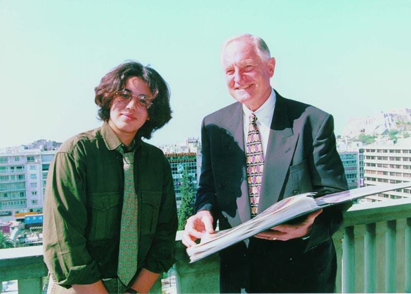 Dr. Craig R. Barrett with Pavlos Katsis at Hotel Grande Bretagne